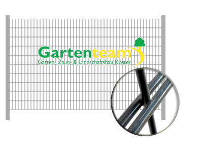 Turbo Gartenteam Köster | Zaunbau | anthrazitgrau RAL 7016 | Stärke: 8/6 AZ04
